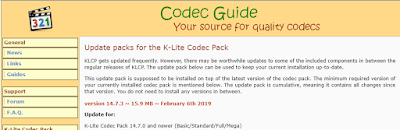 K-Lite Codec Pack 14.7.3 Update