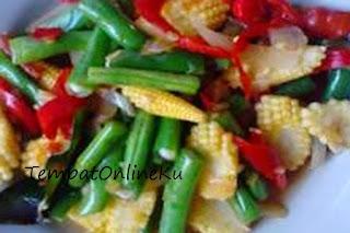 tumis buncis jagung muda
