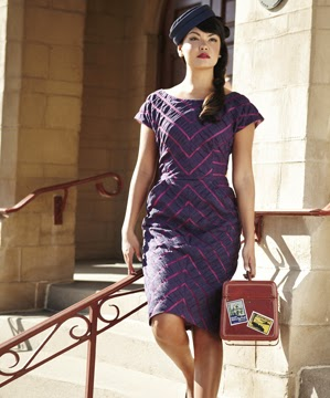 Chevron dress by Stepalica featured in Sew News
