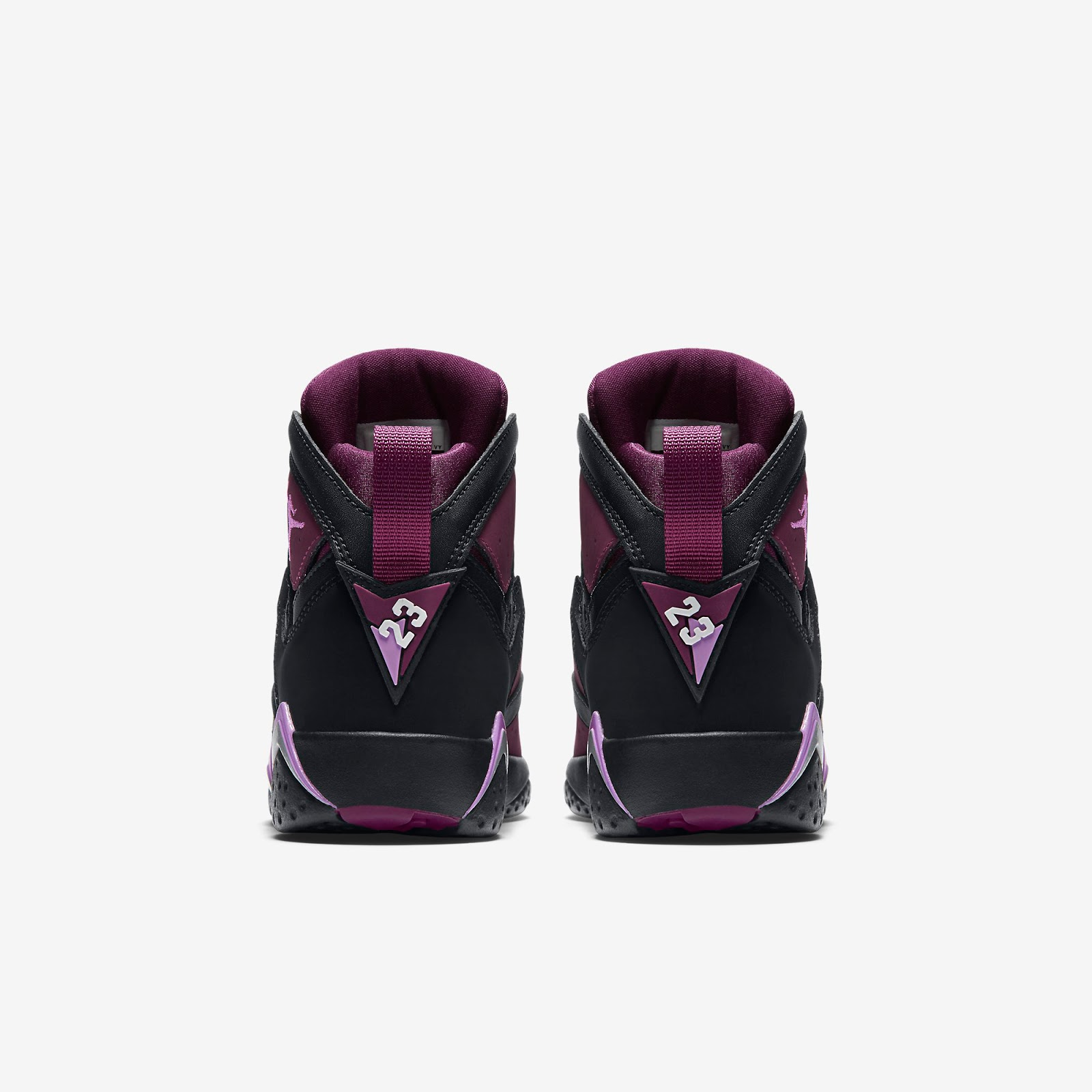 1af5bc18e061 ajordanxi Your  1 Source For Sneaker Release Dates  Girls Air Jordan 7  Retro GG Black Fuchsia Glow-Mulberry-Wolf Grey Release Reminder