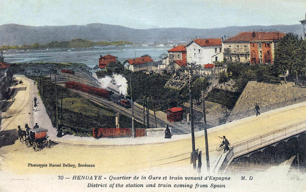 Transpress nz steam train arrives at hendaye france for Hendaye france