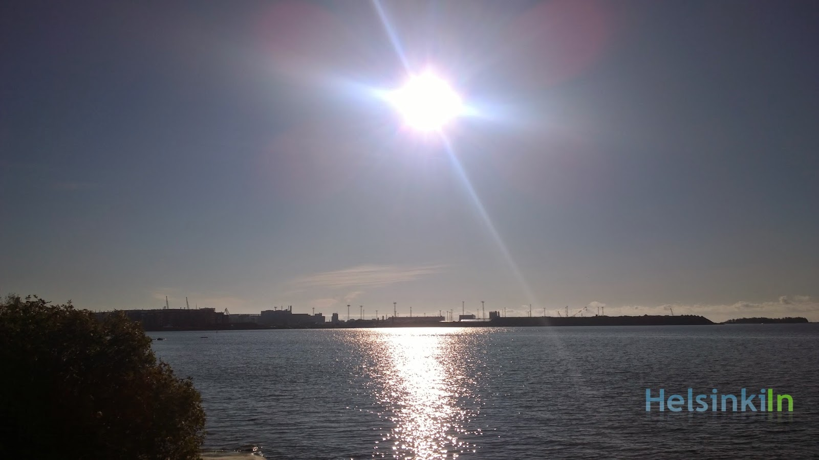 Sun over Hernesaari