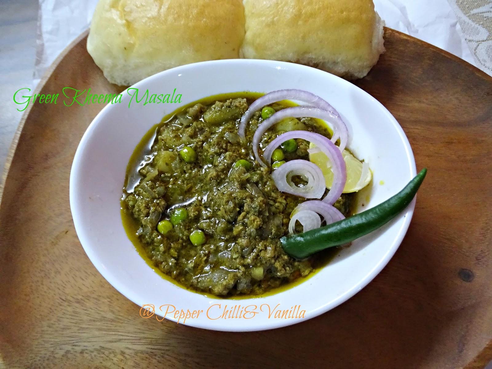 restaurant style hara kheema/hara mutton keema/green beefkheema