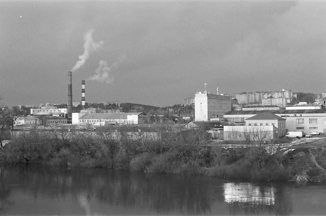 Фотография Смоленска. Вид на Заднепровский район Смоленска через Днепр