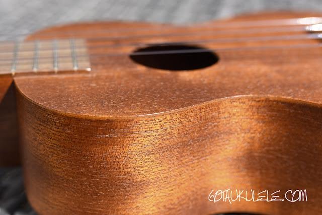 Famous FS-1 Soprano Ukulele thin top