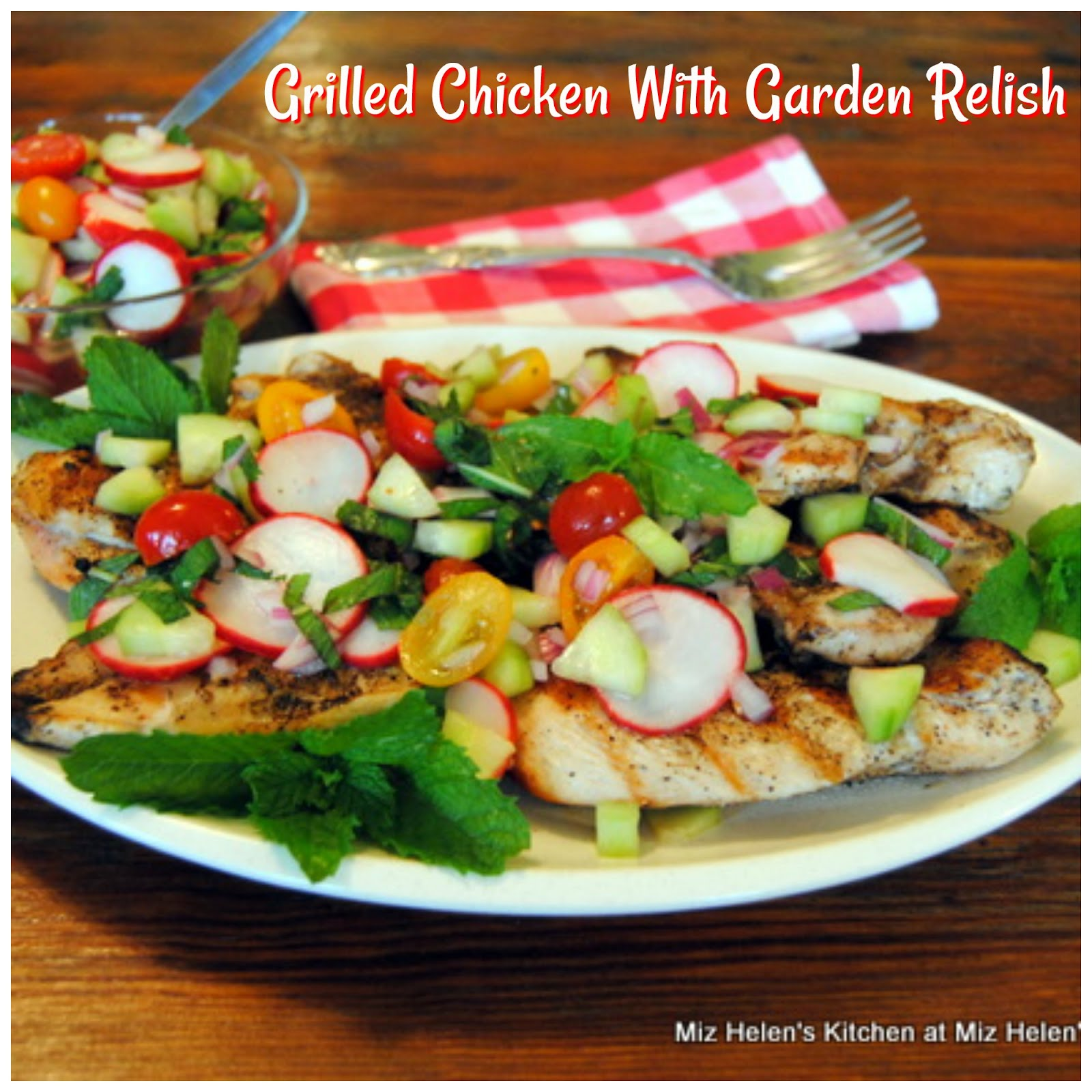 Grilled Chicken With Garden Relish