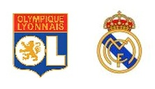Lyon and Real Madrid shields
