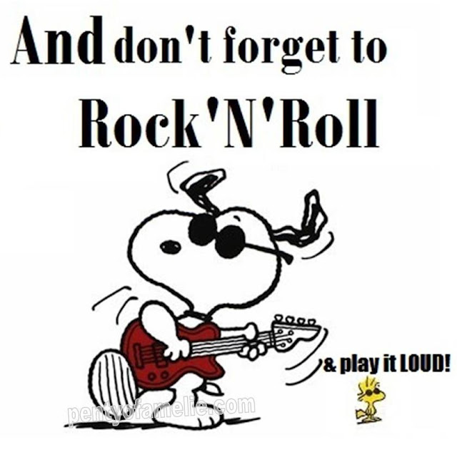 snoopy and woodstock love good old Rock and Roll.