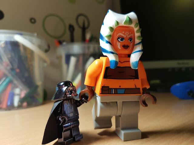 Ahsoka and Darh Vader funny photo