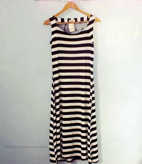 Love Shopping by Ara: Black and White Striped Dress