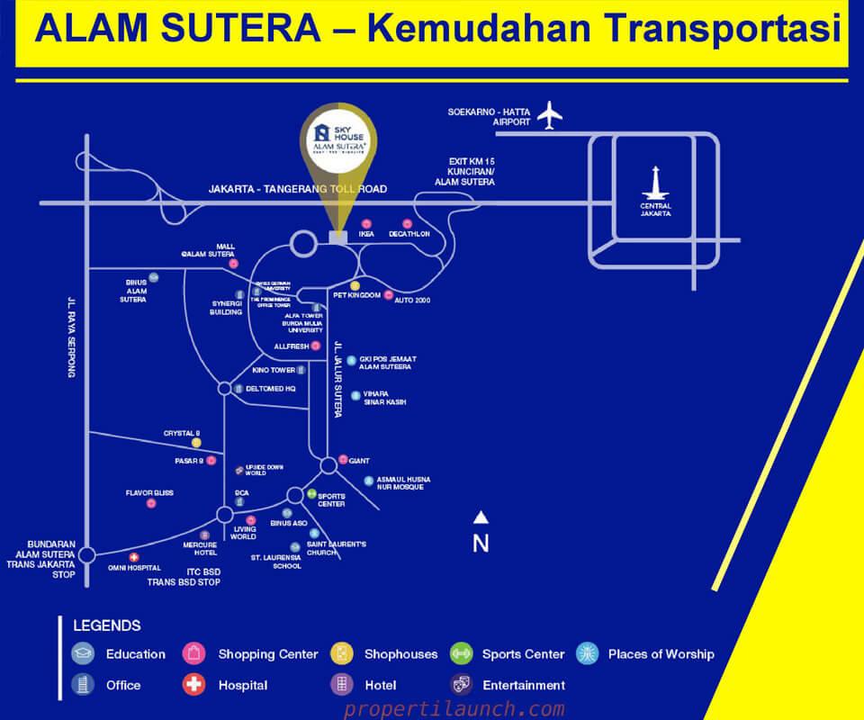 Lokasi Sky House Alam Sutera