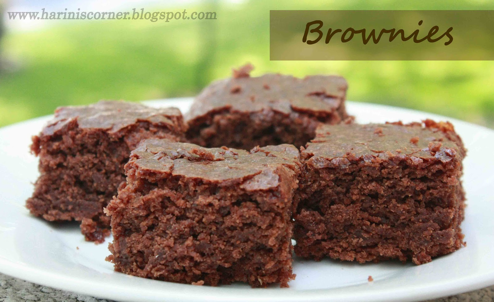 Low Fat Eggless Cake Recipes: Sugar & Spice: Brownie (Low Fat And Eggless