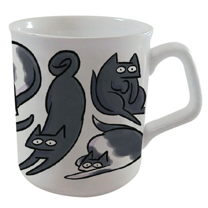 National Black Cat Day mug
