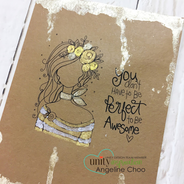 ScrappyScrappy: [NEW VIDEOS] New Planner Gals & Birthday Balloons with Unity Stamp #scrappyscrappy #unitystampco #card #cardmaking #papercraft #plannergal #goldpaint #kuretakegansaitambi #starrycolors #gansaitambi #watercolor #quicktipvideo