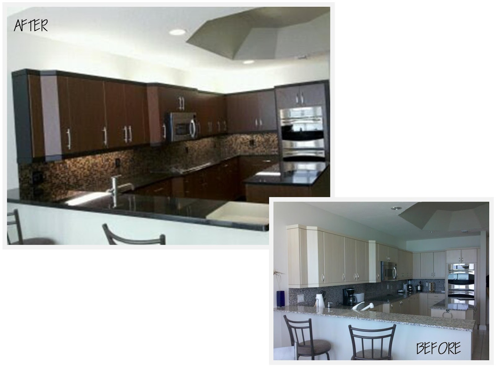 Contemporary kitchen update before and after