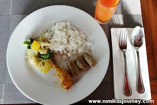 menu sarapan di le semar hotel serang