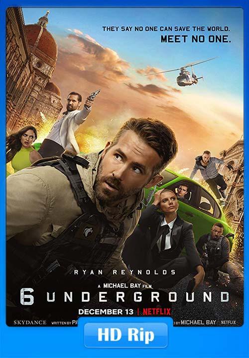 6 Underground 2019 720p WEBRip x264 | 480p 300MB | 100MB HEVC