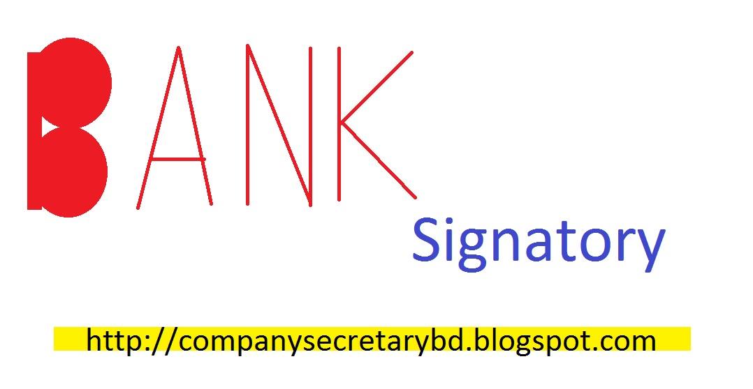 Board Meeting Resolution (Bank Signatory Change) Company Secretary