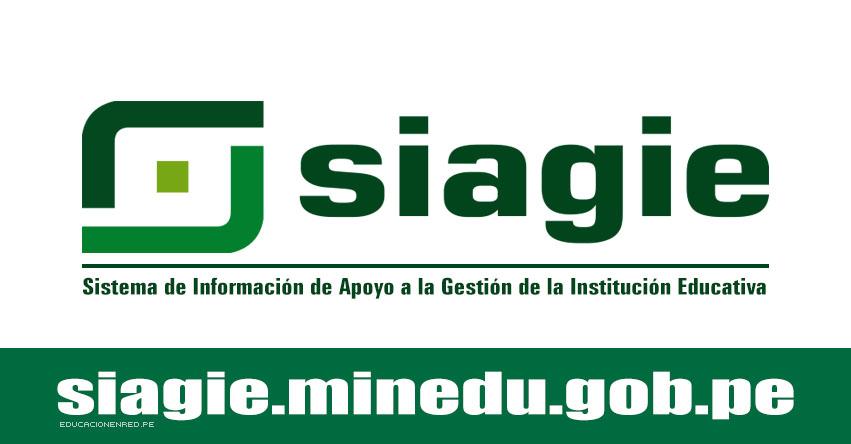 SIAGIE COMUNICADO: Servicio Suspendido hasta las 20:00 (6 Enero 2018) MINEDU - www.siagie.minedu.gob.pe