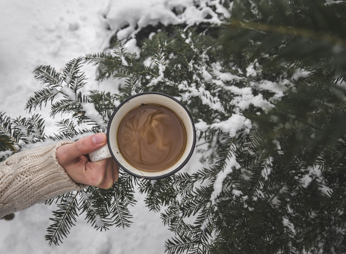 coffee and snow
