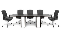 Stylish Conference Table with White Legs