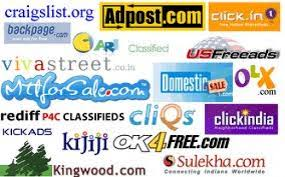High Page Rank Indian Classified Top  Sites lists 2016