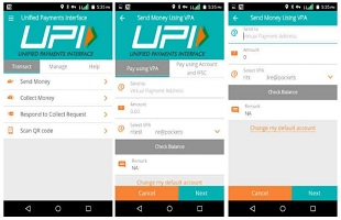 sending money through upi, unified payment interface, upi