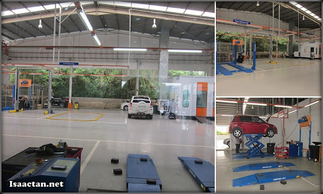 The Service and Repair bay of Suzuki Service Centre Setia Gemilang Auto