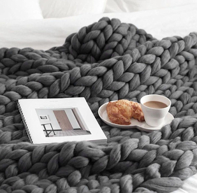 Unique Gift Ideas for the Person that Has Everything featured by top Denver life and style blogger, Delayna Denaye: chunky blanket
