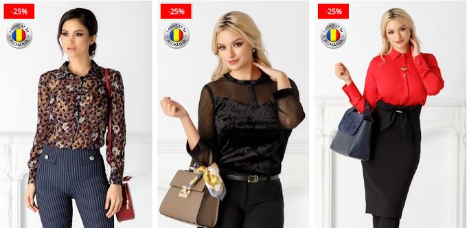 Camasi dama casual si office ieftine si frumoase online 2019 moderne