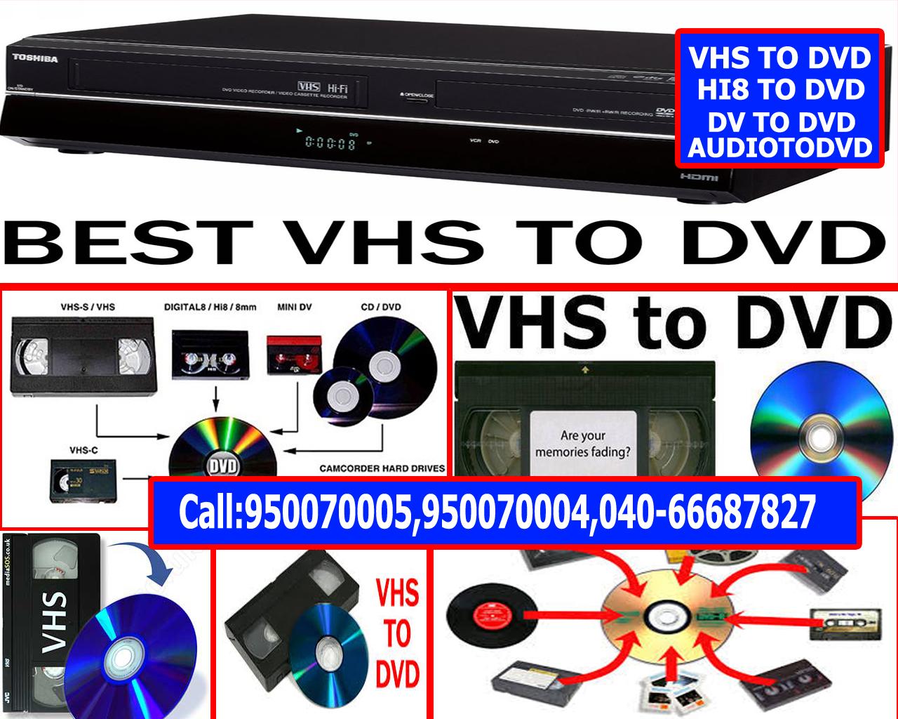 Video8 Hi8 Digital8 Cassettes to MP4 or DVD - VCR VHS