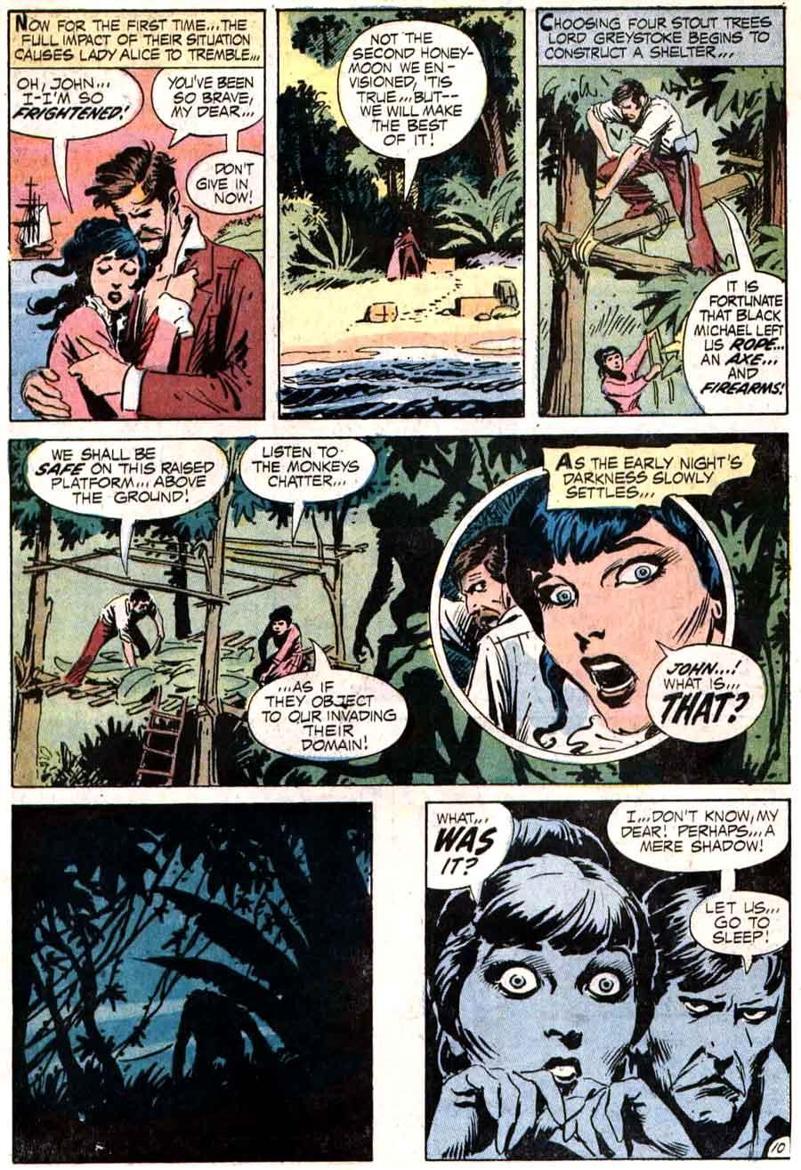 Tarzan v1 #207 dc comic book page art by Joe Kubert