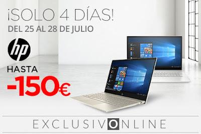 Mejores ofertas ¡Solo 4 días! Hasta -150 euros en portátiles HP de El Corte Inglés