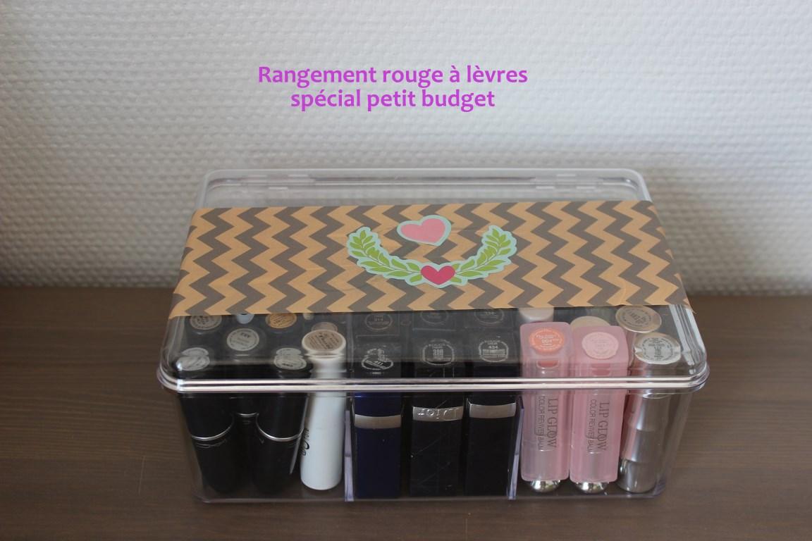 Organisation Mon Rangement Rouge A Levres Petit Budget