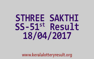 STHREE SAKTHI Lottery SS 51 Results 18-4-2017