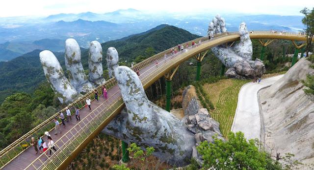 جسر فيتنام الذهبى يجتاح هوس السياحة حول العالم