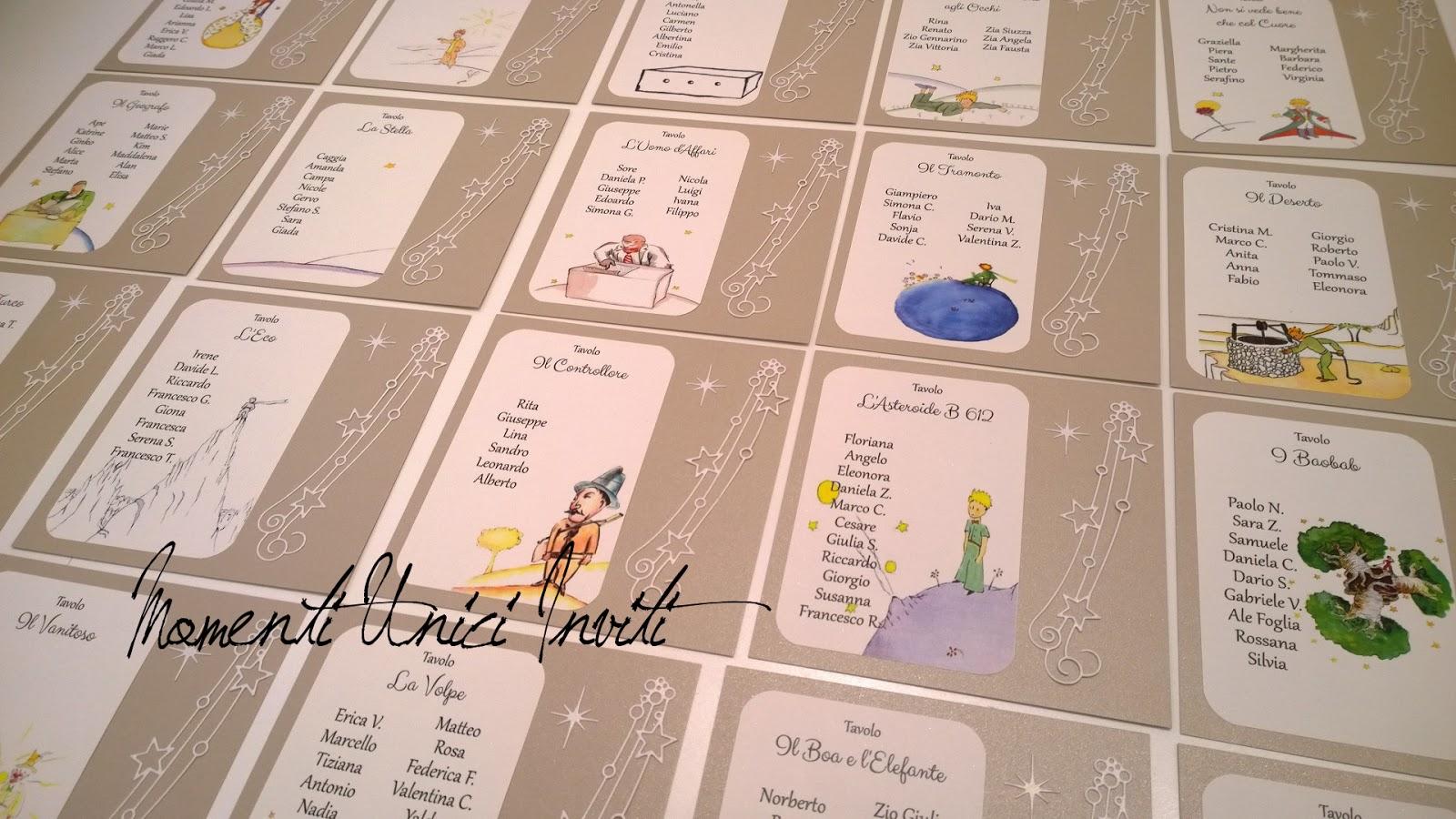 Matrimonio Tema Piccolo Principe : I coordinati a tema piccolo principe realizzati per