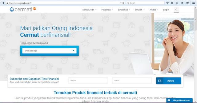 mencari produk finansial melalui cermati