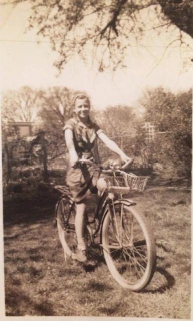 Uncle Jack's gift bike for Helen Gross
