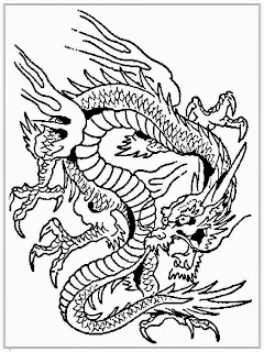 Dragon Adult Coloring Pages Free