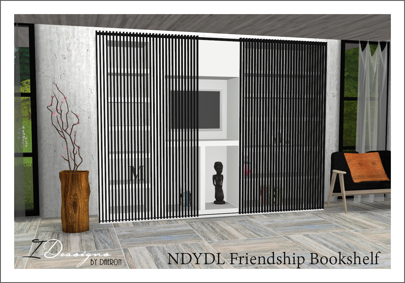 Very Impressive portraiture of My Sims 4 Blog: Friendship Bookshelf by Daer0n with #A1572A color and 1376x963 pixels