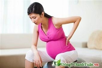 Đau lưng khi mang thai