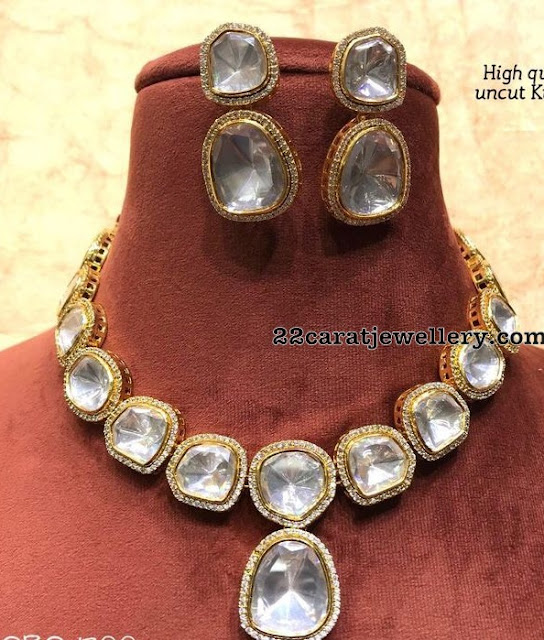 Large Uncut Polki Necklace