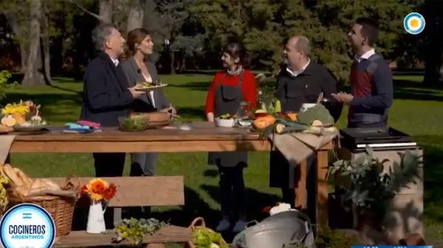 Macri se tomó un tiempo para cocinar en la tv pública