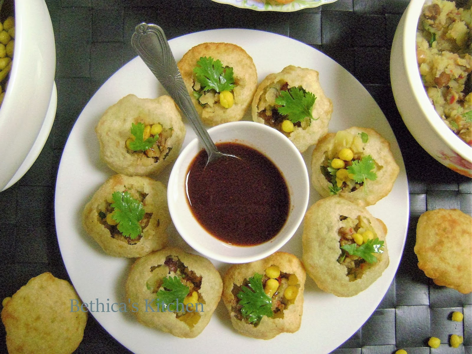 Bethicas Kitchen Flavours Pani Puri  Indian Street Snack