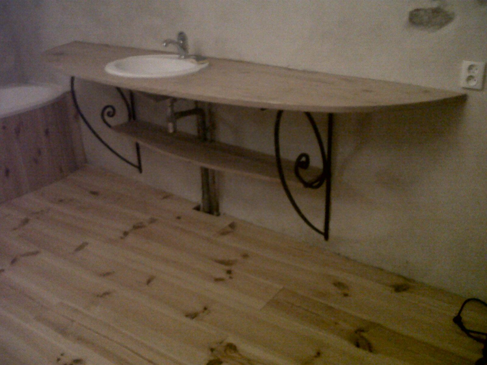 ferraille papillon console de salle de bain. Black Bedroom Furniture Sets. Home Design Ideas