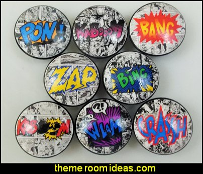 Comic Book Action Cabinet Knobs