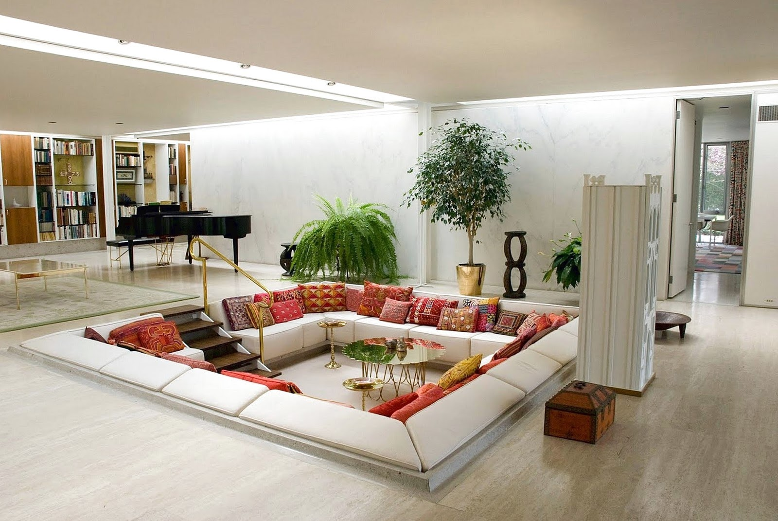 4 Reasons you Should Build a Sunken Living Room - Anastasia Home