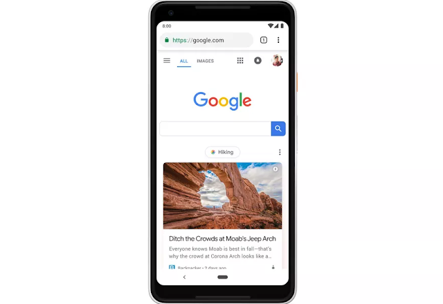 جوجل تبدأ في نشر خلاصة Discover على الصفحة الرئيسية للولايات المتحدة