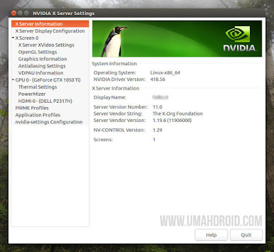 Setting NVIDIA Linux